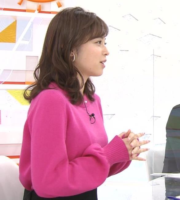 久慈暁子アナ ちっぱいだけどエロいニットおっぱいキャプ・エロ画像10