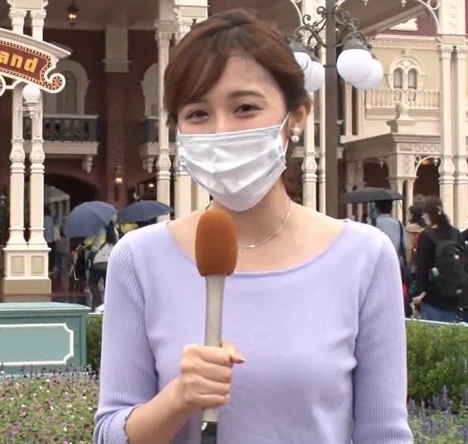 久慈暁子アナ ニットおっぱいキャプ・エロ画像2