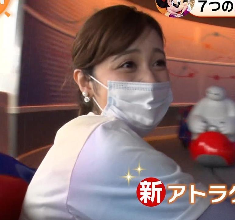 久慈暁子アナ ニットおっぱいキャプ・エロ画像3