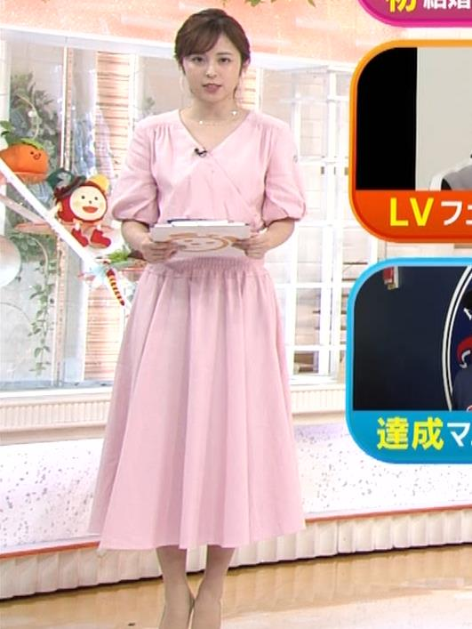久慈暁子アナ ピンクのワンピースキャプ・エロ画像2