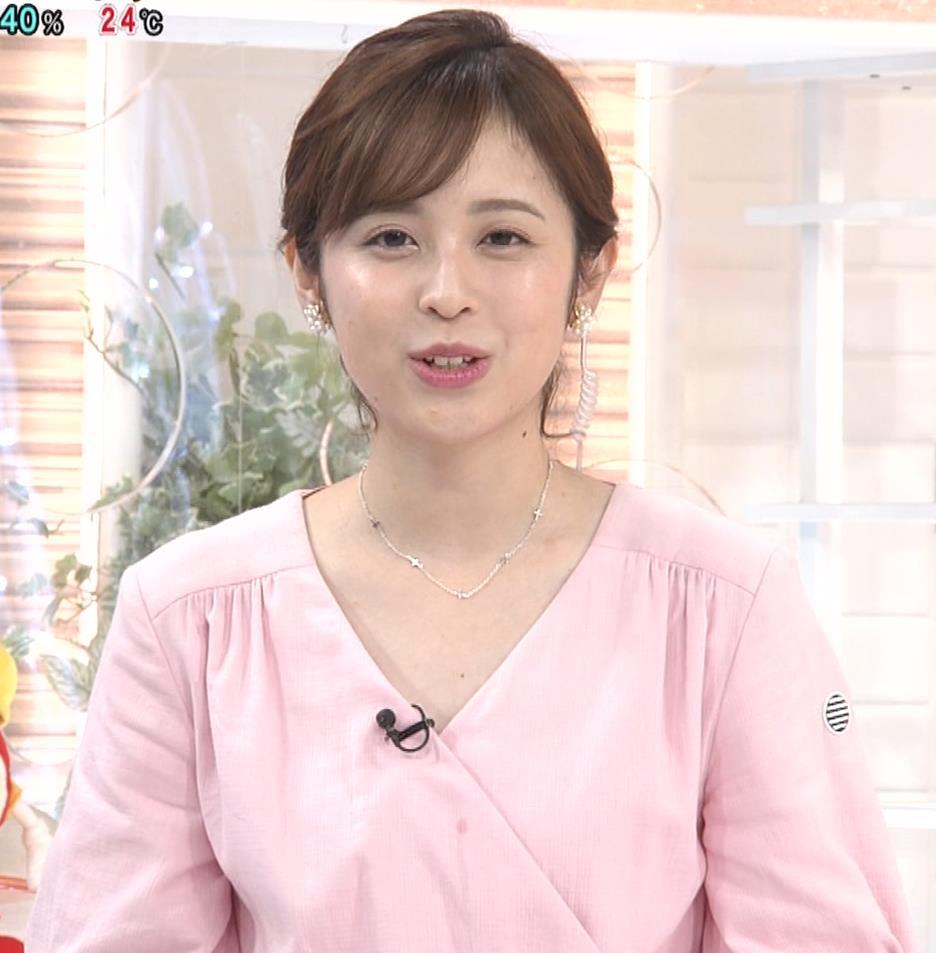 久慈暁子アナ ピンクのワンピースキャプ・エロ画像4