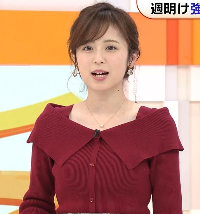 久慈暁子アナ ニット横乳キャプ・エロ画像