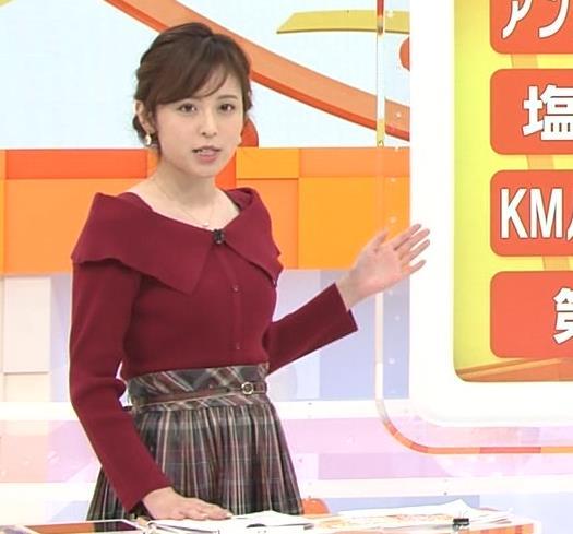久慈暁子アナ ニット横乳キャプ・エロ画像3