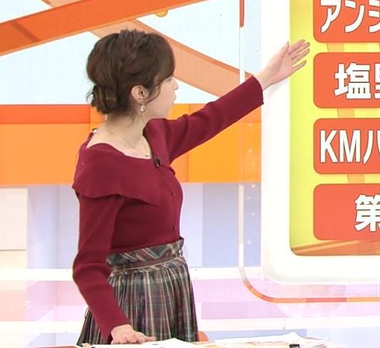久慈暁子アナ ニット横乳キャプ・エロ画像4
