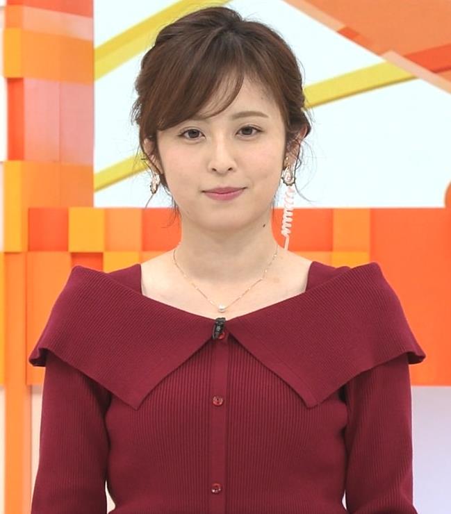 久慈暁子アナ ニット横乳キャプ・エロ画像6