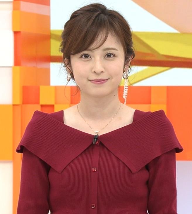久慈暁子アナ ニット横乳キャプ・エロ画像7