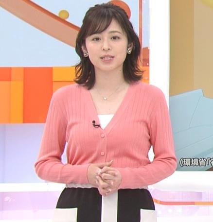 久慈暁子 美人女子アナのニット乳キャプ・エロ画像6