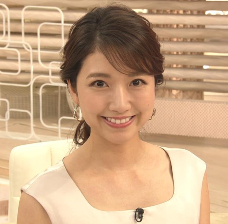 三田友梨佳アナ 夜のセクシーなニュース番組キャプ・エロ画像