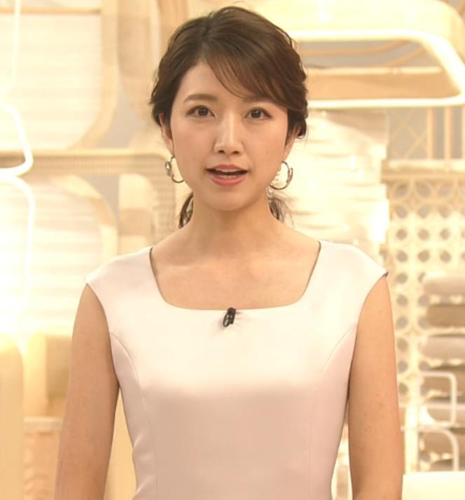 三田友梨佳アナ 夜のセクシーなニュース番組キャプ・エロ画像2