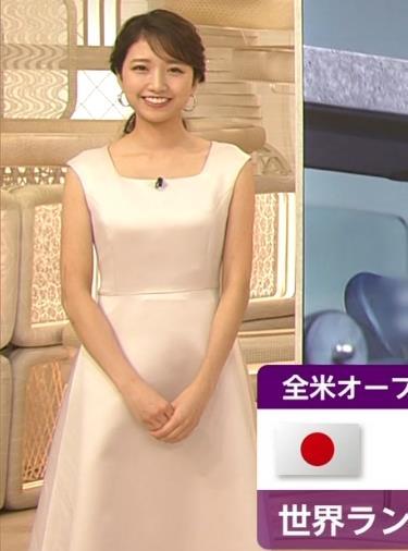 三田友梨佳アナ 夜のセクシーなニュース番組キャプ・エロ画像3
