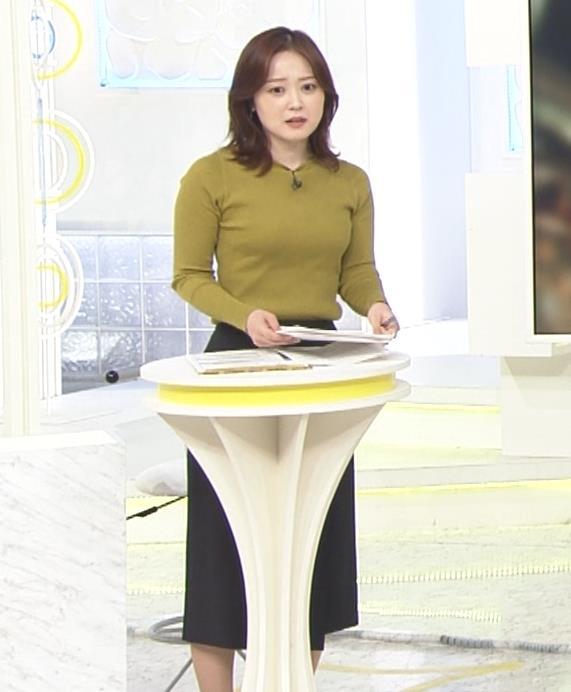 水卜麻美アナ ピチピチニットのおっぱいキャプ・エロ画像2