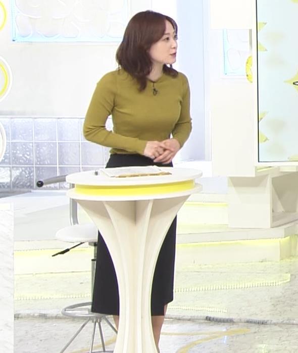 水卜麻美アナ ピチピチニットのおっぱいキャプ・エロ画像5