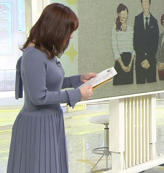 水卜麻美アナ ニット横乳キャプ・エロ画像2