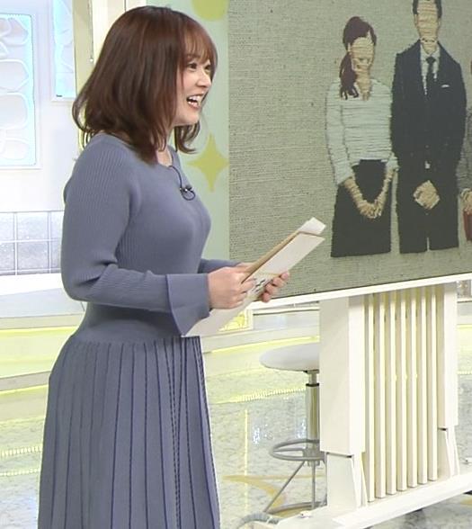 水卜麻美アナ ニット横乳キャプ・エロ画像3