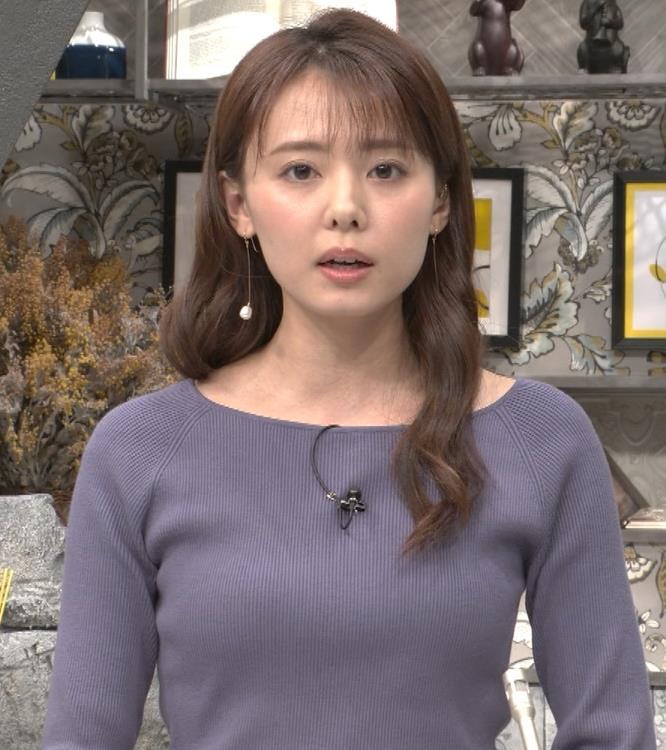 宮澤智アナ ニット横乳キャプ・エロ画像