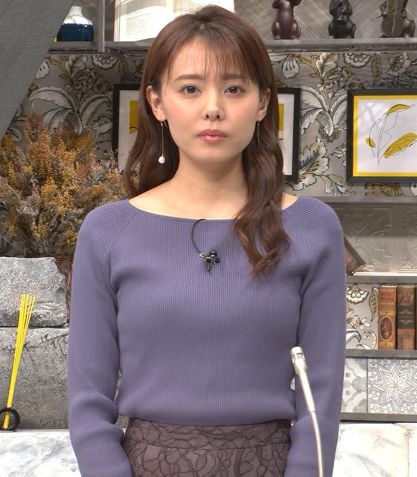 宮澤智アナ ニット横乳キャプ・エロ画像3