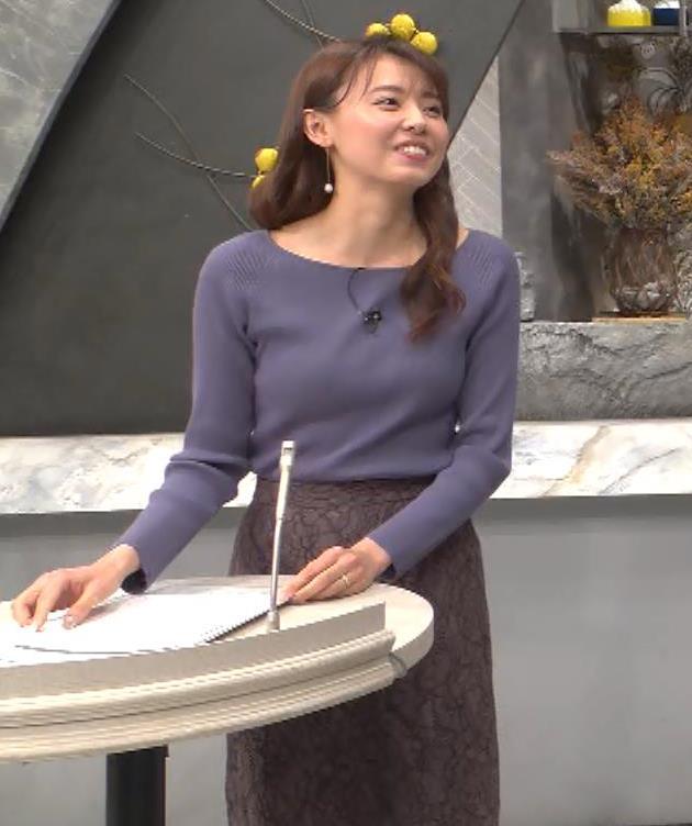 宮澤智アナ ニット横乳キャプ・エロ画像5