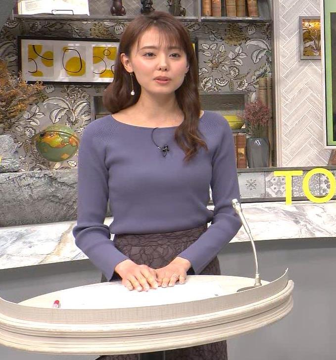 宮澤智アナ ニット横乳キャプ・エロ画像6