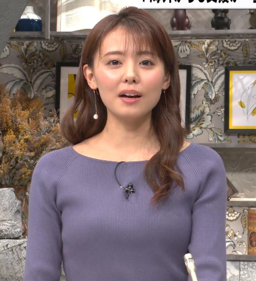宮澤智アナ ニット横乳キャプ・エロ画像7