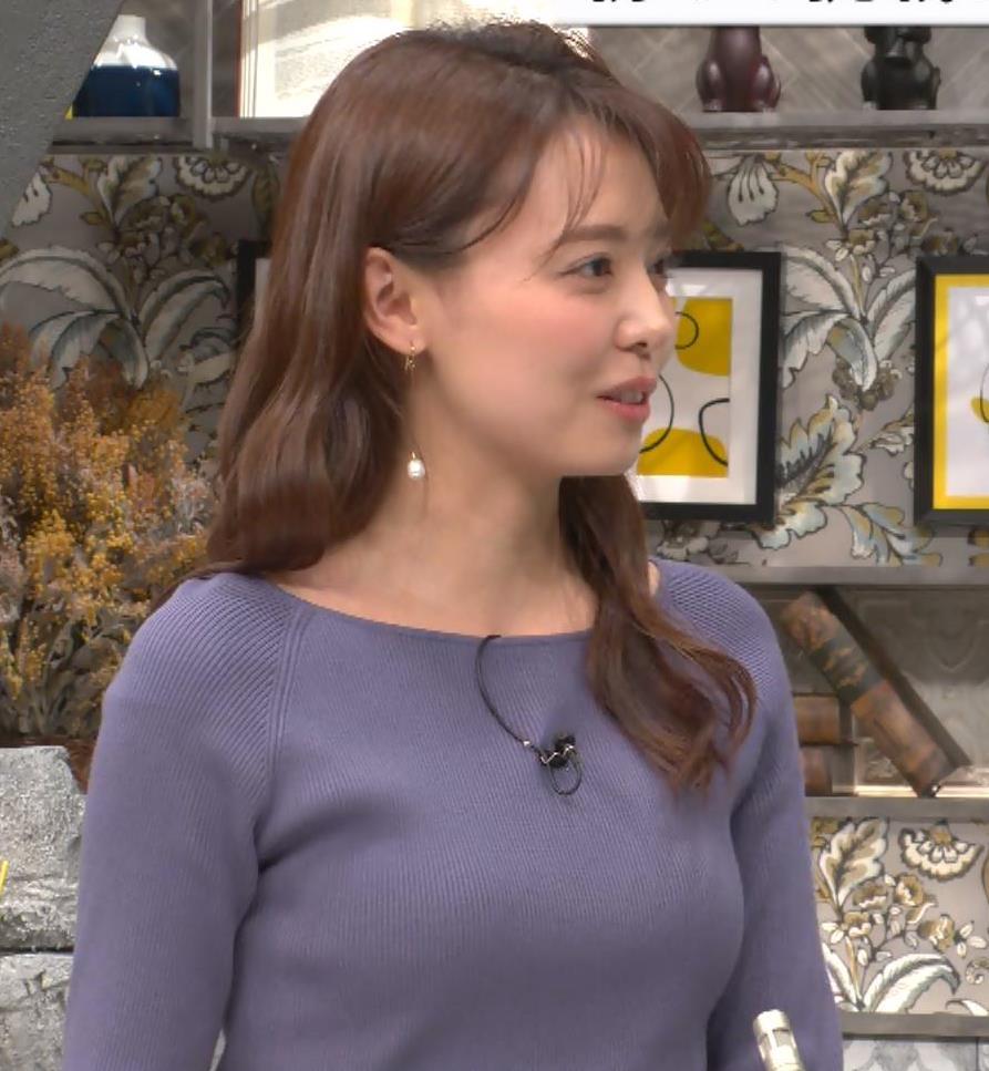 宮澤智アナ ニット横乳キャプ・エロ画像8