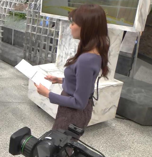 宮澤智アナ ニット横乳キャプ・エロ画像10