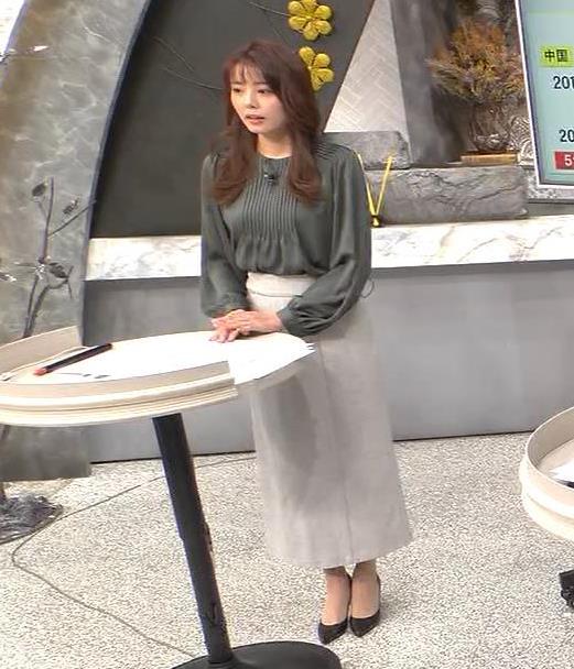 宮澤智アナ 胸のふくらみキャプ・エロ画像
