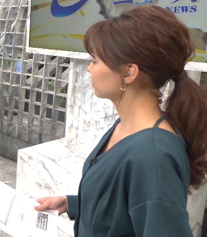 宮澤智アナ Vネックで開いた胸元キャプ・エロ画像8