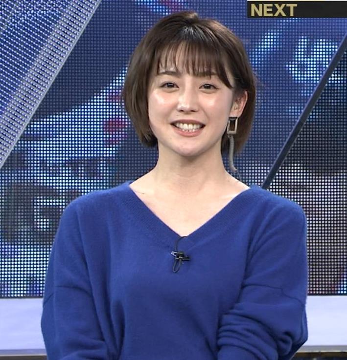 宮司愛海アナ お辞儀で服の中が見えてそうキャプ・エロ画像