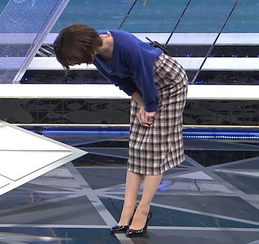 宮司愛海アナ お辞儀で服の中が見えてそうキャプ・エロ画像3