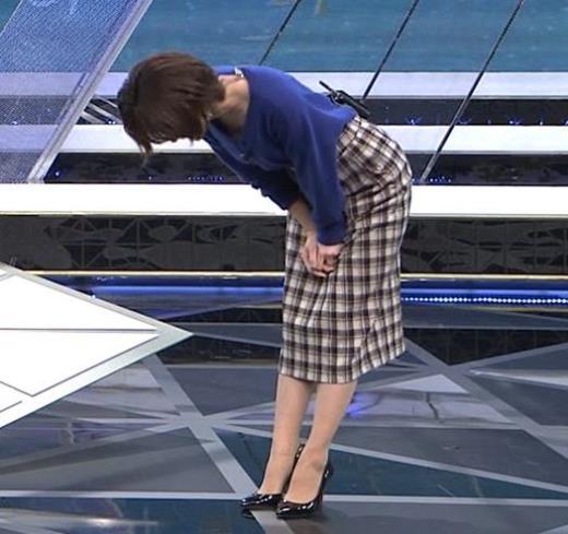 宮司愛海アナ お辞儀で服の中が見えてそうキャプ画像(エロ・アイコラ画像)