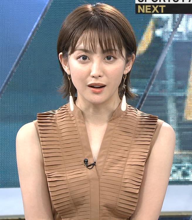 宮司愛海アナ セクシーなノースリーブキャプ・エロ画像