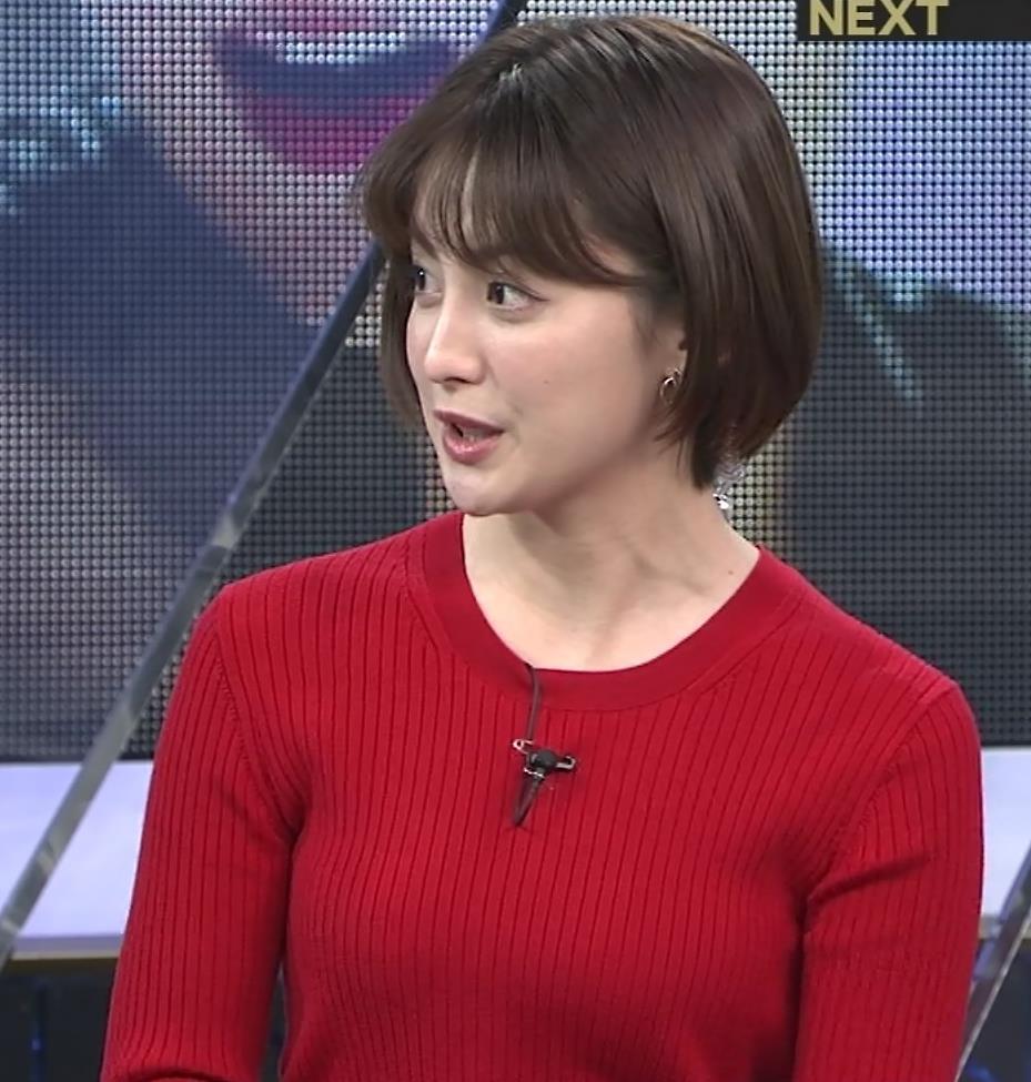 宮司愛海アナ 赤ニットのおっぱいキャプ・エロ画像4
