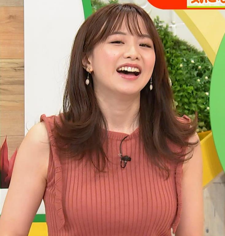 森香澄アナ ノースリーブのニットおっぱい♡がエロ過ぎるキャプ・エロ画像4