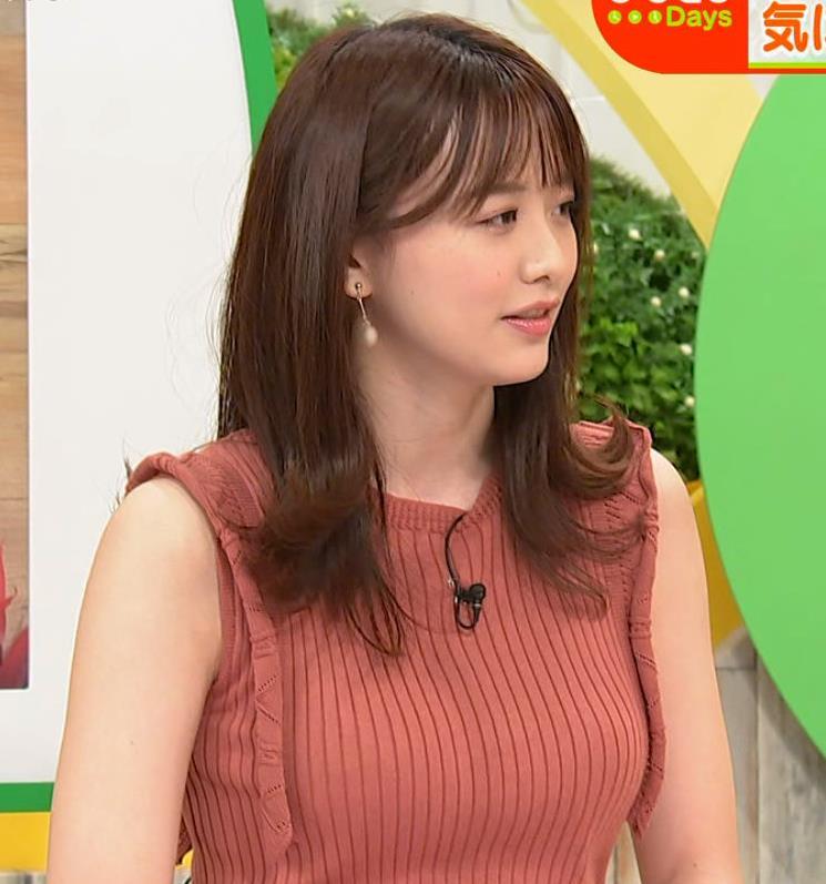 森香澄アナ ノースリーブのニットおっぱい♡がエロ過ぎるキャプ・エロ画像5
