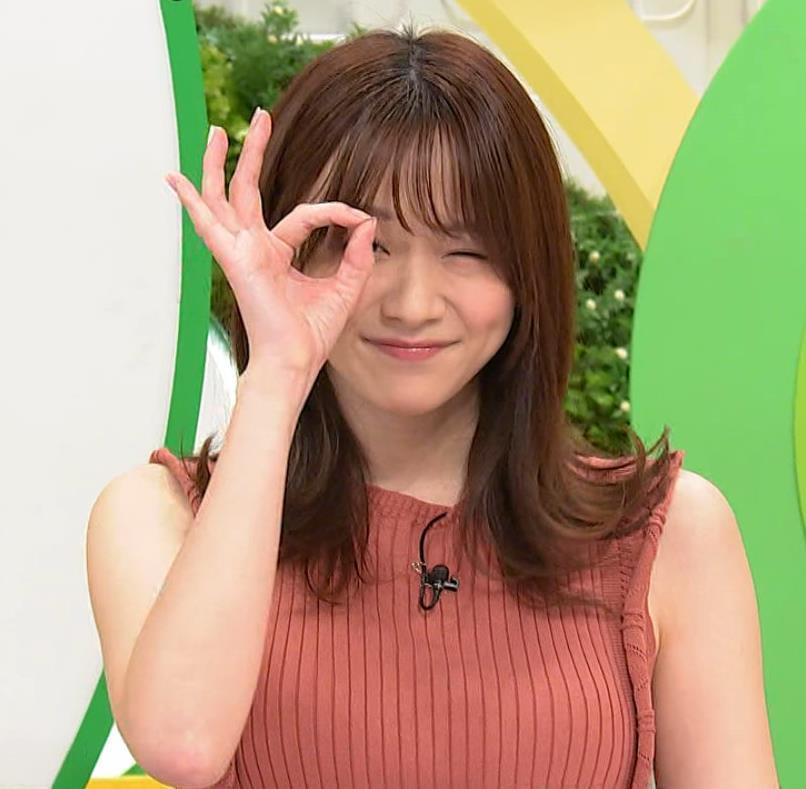 森香澄アナ ノースリーブのニットおっぱい♡がエロ過ぎるキャプ・エロ画像6