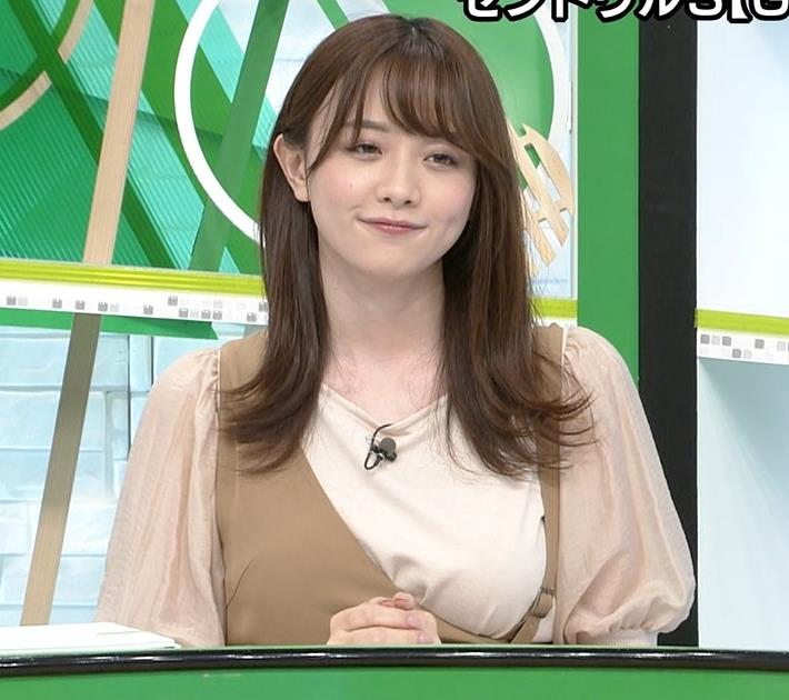 森香澄アナ 話題になった方乳衣装キャプ・エロ画像7