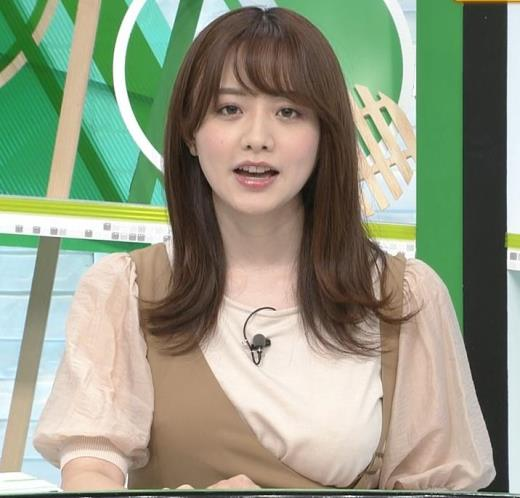 森香澄アナ 話題になった方乳衣装キャプ画像(エロ・アイコラ画像)
