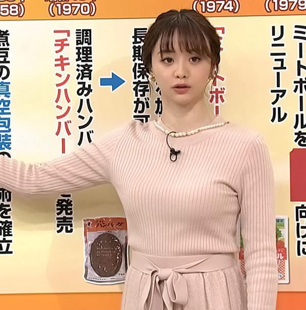 森香澄アナ 最高におっぱいが主張しているキャプ・エロ画像7
