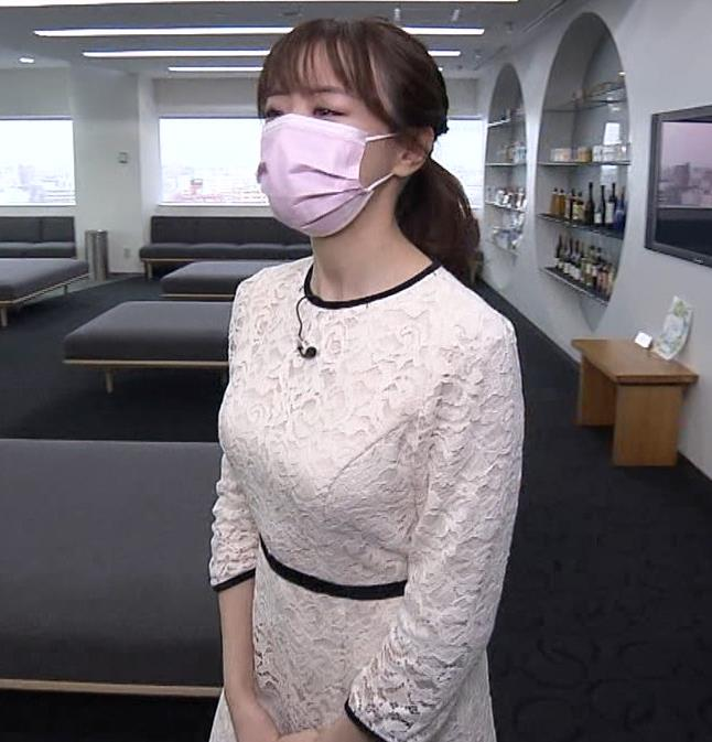 森香澄アナ 巨乳横乳キャプ・エロ画像