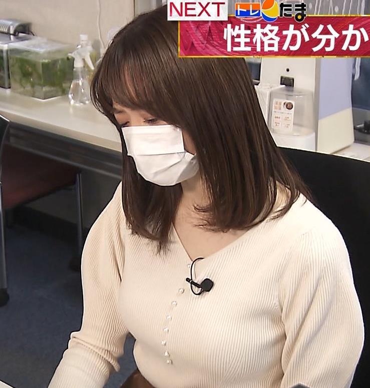 森香澄アナ ニット横乳キャプ・エロ画像