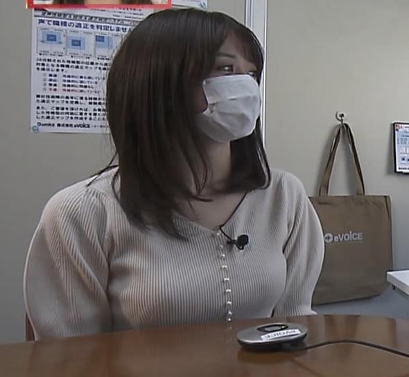 森香澄アナ ニット横乳キャプ・エロ画像2