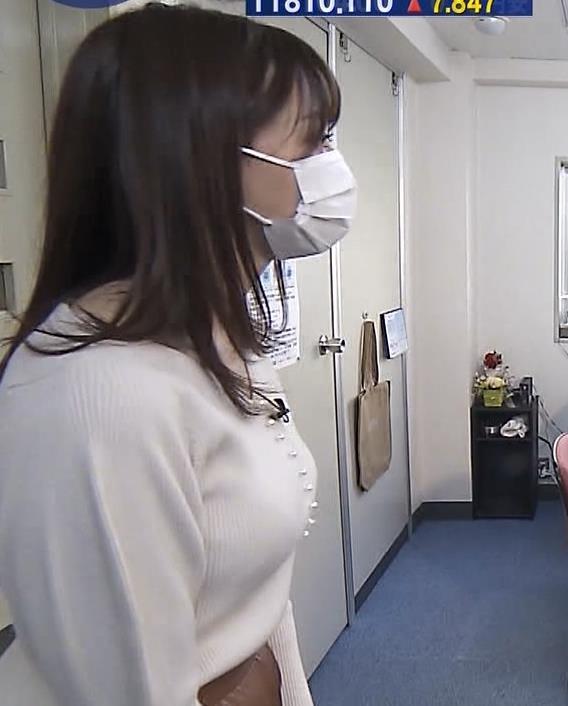 森香澄アナ ニット横乳キャプ・エロ画像6