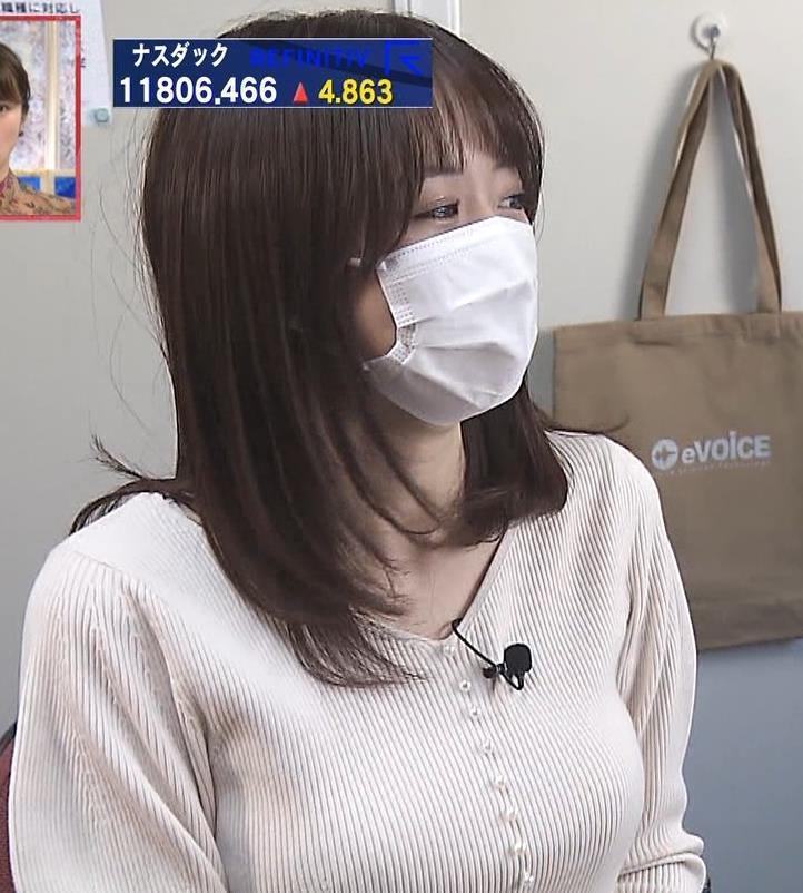 森香澄アナ ニット横乳キャプ・エロ画像7