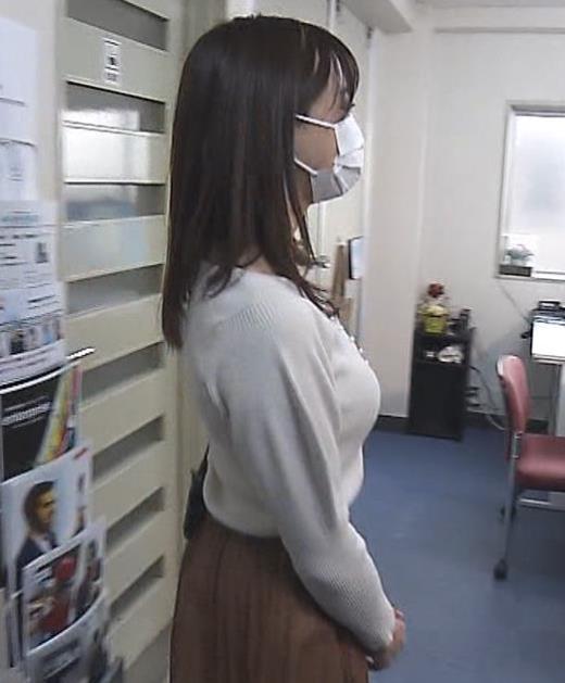 森香澄アナ ニット横乳キャプ画像(エロ・アイコラ画像)