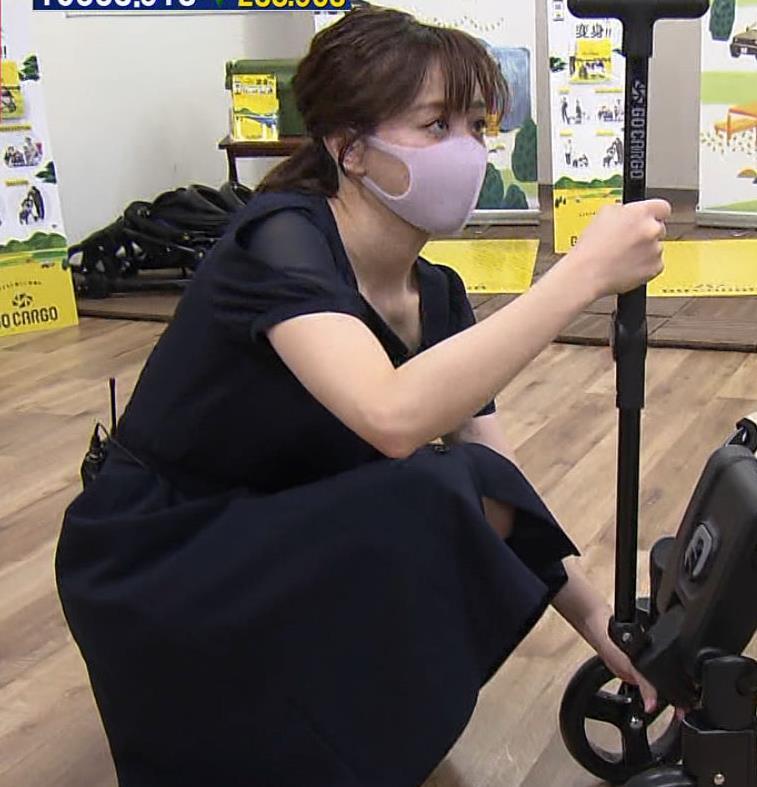 森香澄アナ 前かがみ胸チラキャプ・エロ画像10
