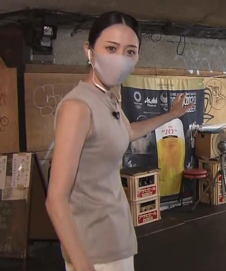 森葉子アナ セクシーなノースリーブ&お尻キャプ・エロ画像3