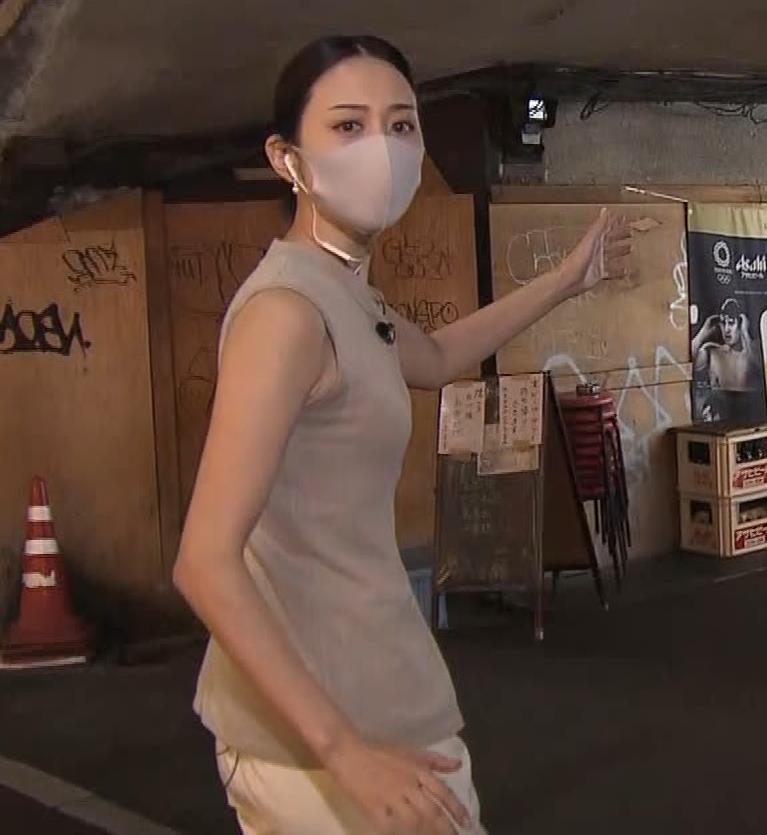 森葉子アナ セクシーなノースリーブ&お尻キャプ・エロ画像4