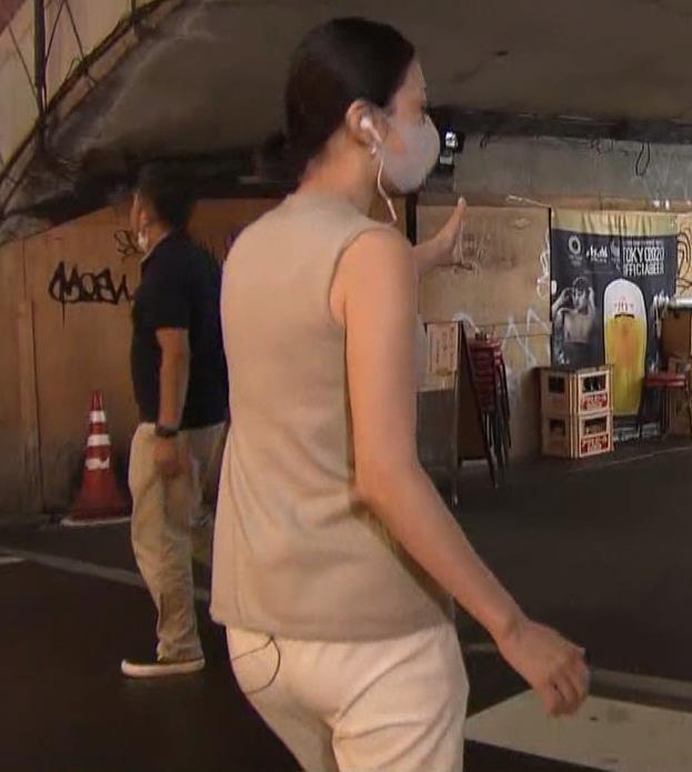 森葉子アナ セクシーなノースリーブ&お尻キャプ・エロ画像7