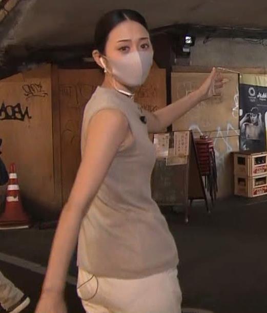 森葉子アナ セクシーなノースリーブ&お尻キャプ・エロ画像8