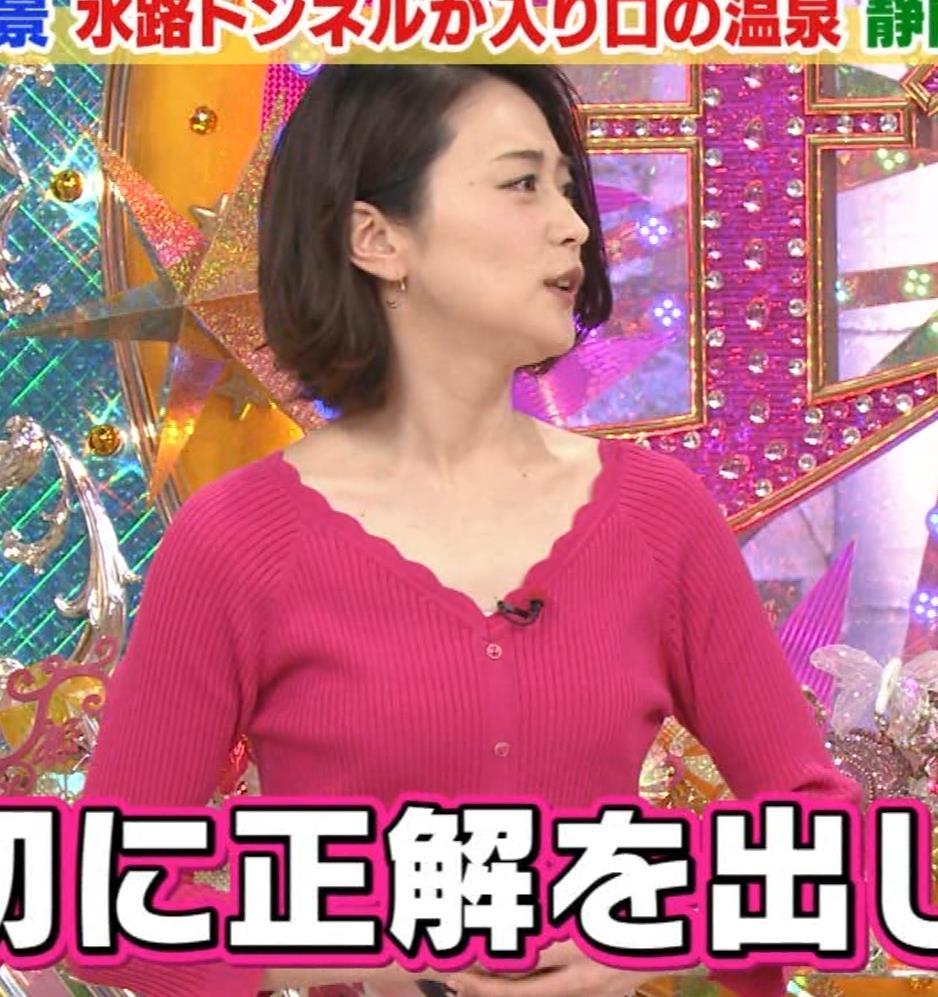 森葉子アナ 細身ニット乳キャプ・エロ画像2